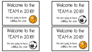 Welcome to the TEAM - Let's have a BALL