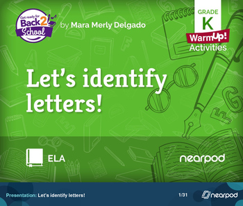 Let's identify letters!