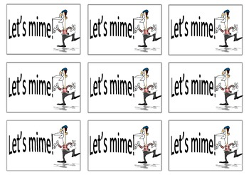 Let's mime!
