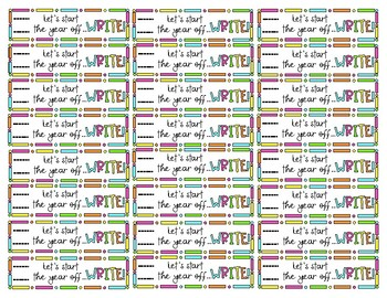 Let's start the year off...WRITE! Pencil Tags