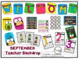 Let´s taco´bout our class Teacher Backdrop-Distance Learning English and Spanish