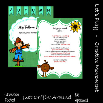 """Let's take a walk """"Autumn"""" An Autumn Music and  Movement Story - Orff/Dalzroze"""