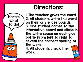 Let's use some Glue! Long u-e Word Building Interactive PowerPoint