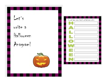 Let´s write a Halloween Anagram in Spanish!