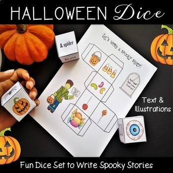 Halloween Writing Activities Dice Set