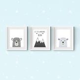 Let the Adventure Begin Bear Prints, Printable Classroom Decor 8x10 11x14 16x20