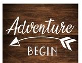 Let the Adventure Begin Wood Printable Sign