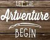 Let the Artventure Begin Poster