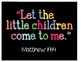 """""""Let the Children Come to Me"""" bible print for framing"""