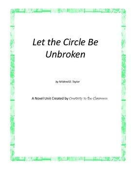 Let the Circle Be Unbroken  Novel Unit Plus Grammar
