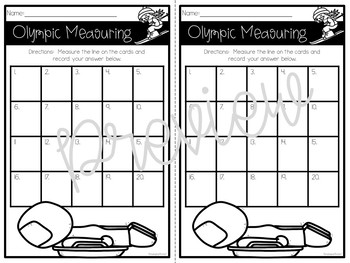 2018 Winter Games Math Olympics in the Classroom