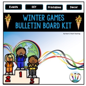Winter Games 2018 Bulletin Board Kit for PyeongChang