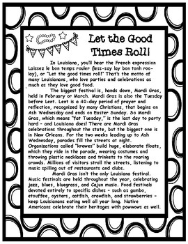 Let the Good Times Roll Mardi Gras Informational Article