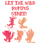 Let the Wild Rumpus Start Library Poster