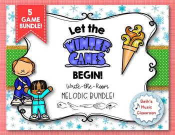 Let the Winter Games Begin! Melodic Write the Room: 5 GAME BUNDLE