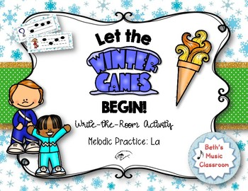 Let the Winter Games Begin! Melodic Write the Room, La