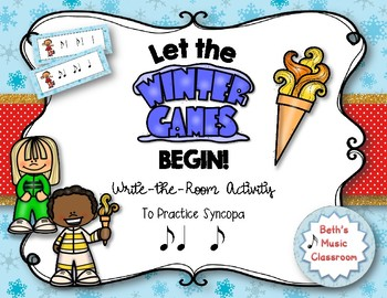 Let the Winter Games Begin! Rhythm Write the Room, Syncopa