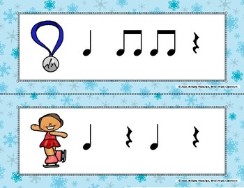 Let the Winter Games Begin! Rhythm Write the Room, Ta Rest