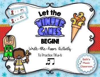 Let the Winter Games Begin! Rhythm Write the Room, Tika-tika