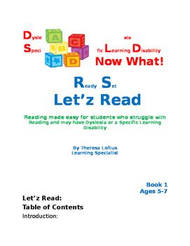 Let'z Read -Dyslexia  phonic skills (IRLA level Yellow-1 G)