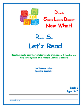 Let'z Read -Dyslexia  Lesson 2 Letter Sound a