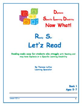 Let'z Read -Dyslexia  Lesson 2 Letter Sound a