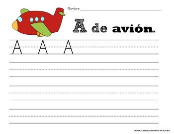 Letra A- A de Avión