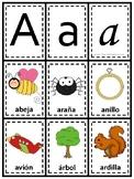 Letra A: Juego de Memoria   Letter A Memory Game - Spanish Vocabulary, Preschool