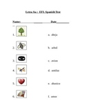 Letra A a Vocabulario- Examen