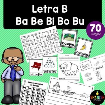 Letra B ba be bi bo bu actividades y centros