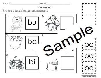 Letra Bb Silabas Activities Bundle Pack