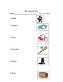 Letra Bb Vocabulario - Examen