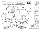 Letra Bb set of Initial sound Worksheets  SLA
