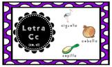 Letra C (for ce, ci) Index Cards Vocabulary Puzzles (Rompecabezas)