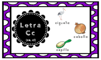 Letra C (for ce, ci) Index Cards Vocabulary Puzzles (Rompecabezas)
