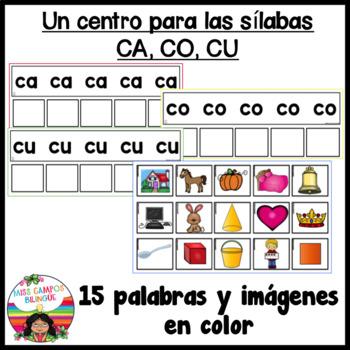 C Fuerte Silabas ca co cu by Miss Campos Teachers Pay