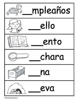 Letra Cc /k/ Kinder Bilingual SLA Tesoros' Literacy Centers (3 sets)