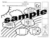 Letra Cc /s/ set of Initial sound worksheets SLA