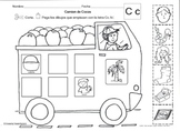 Letra Cc /k/ set of Initial sound Worksheets  SLA common core/Cscope