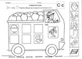 Letra Cc /k/ set of Initial sound Worksheets  SLA