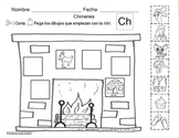 Letra Ch set of Initial sound worksheets SLA cscope/common core
