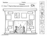 Letra Ch set of Initial sound worksheets SLA