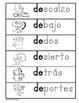 Letra Dd Kinder Bilingual SLA Tesoros' Literacy Centers (3 sets)
