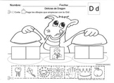 Letra Dd set of Initial sound Worksheets  SLA common core/Cscope