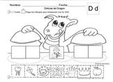 Letra Dd set of Initial sound Worksheets  SLA