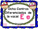 Letra E Centros LectoEscritura vocal E e Alphabet Centers
