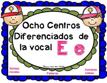 Letra E Centros LectoEscritura vocal E e