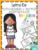 Letra E la vocal- Actividades y libritos