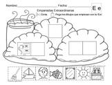 Letra Ee set of Initial vowel sound Worksheets  SLA