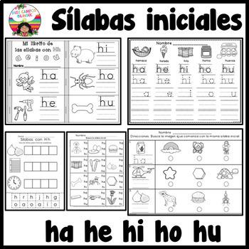 Letra H Silabas ha, he, hi, ho, hu